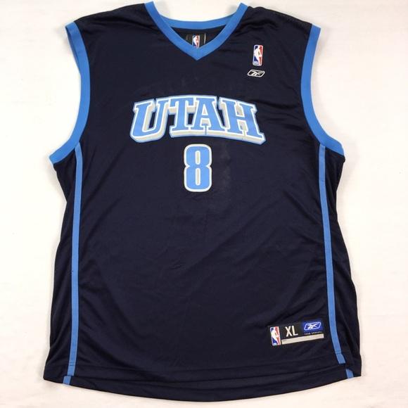 huge selection of 42094 70a2c Williams Reebok NBA Jersey Utah Jazz #8 Men's XL
